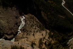 Aerial flight over Takkakaw falls Stock Footage
