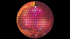 Seventies - Mirrorball Loop - stock footage