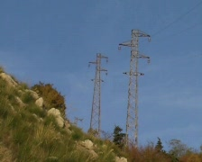 Power pole Stock Footage