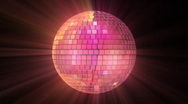 Stock Video Footage of Seventies - Mirrorball Exploding