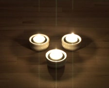 Three tea candles blown out Stock Footage