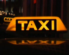 German Taxi Sign Stock Footage