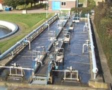 Sewage work basin Stock Footage