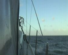 Sailing on the IJsselmeer in Holland Stock Footage