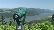 Scenic View on the Columbia River Stock Footage