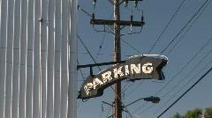 Parking Garage Arrow Sign in Portland, Oregon - stock footage
