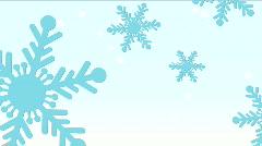 Blue Snowflakes on light Blue HD - stock footage