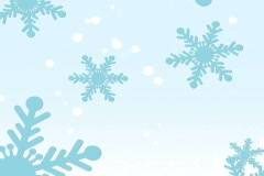 Blue Snowflakes on Light Blue - SD - Loops Stock Footage