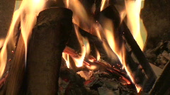 Seamless fireplace burning flames one Stock Footage
