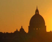 Vatican sunset - zoom out Stock Footage