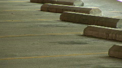 Empty Parking Spaces in Parking Garage Stock Footage