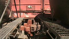 Railroad car coupler Stock Footage