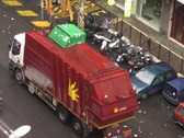 Roman refuse lorry Stock Footage