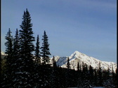 Stock Video Footage of Mount Ishbel in winter 1