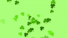 Clovers continuously shoot towards the screen (High Definition 1080p) Stock Footage