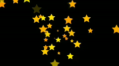 Stars continuously shoot towards the screen (High Definition 1080p) Stock Footage