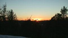 Beautiful sunset one Stock Footage