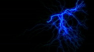 Stock Video Footage of Omnidirectional Blue Lightning