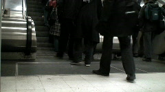 People in underground metro Stock Footage