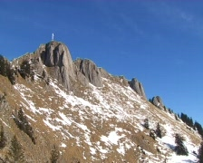 Alpine Panorama with Zugspitze Stock Footage