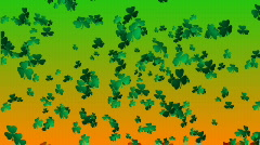 St Patricks Day - Falling Shamrocks Stock Footage