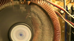 Dirty cpu fan inside computer one Stock Footage