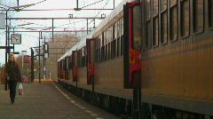 Train closing doors Stock Footage