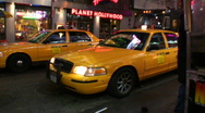Yellow cab Stock Footage
