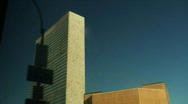 Drive-by UN building, NY Stock Footage