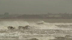 Stormy sea with sound HD 1080i - stock footage
