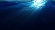 Stock Video Footage of Underwater scene with sunrays shining through the water's surface. (Looping, Hig