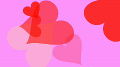 Bunch of large hearts are busily moving around the screen (Looping, High Definit Stock Footage