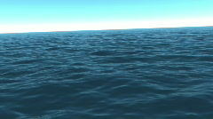 Lost at sea in the afternoon sun (Looping, Hight Definition 1080P) - stock footage