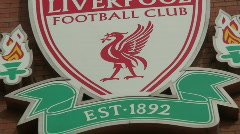 Liverpool Football Club Crest - stock footage