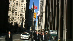 Wall street New York Stock Footage