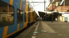 Train from station Stock Footage
