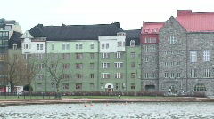 Helsinki urban area one, close-up Stock Footage