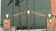 Stock Video Footage of bob paisley memorial gates at liverpool football club