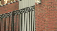 Stock Video Footage of Bill Shankly memorial gates and Hillsborough memorial