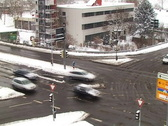 Stock Video Footage of City traffic in snow - time lapse