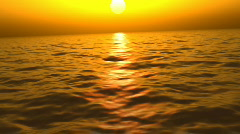 Lost at sea during a sunset (Looping, Hight Definition 1080p) - stock footage