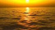 Lost at sea during a sunset (Looping, Hight Definition 1080p) Stock Footage