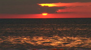 Stock Video Footage of Sunset over the ocean