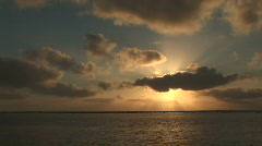 Sunrise over the ocean Stock Footage