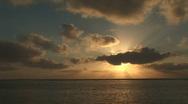 Sunrise over the ocean Stock Footage