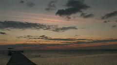 Sunrise over Caye Calker Stock Footage