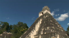 Grand courtyard in Tikal Stock Footage