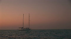 A two mast sailboat Stock Footage
