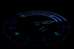 Abstract counter clock Stock Footage