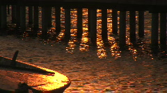 A shot of a boat near a pier Stock Footage